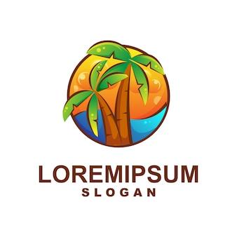 Niesamowite logo summer beach