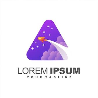 Niesamowite logo uruchamiania rakiet