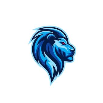 Niesamowite logo wektor lew