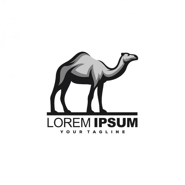 Niesamowite logo wielbłąda zwierząt