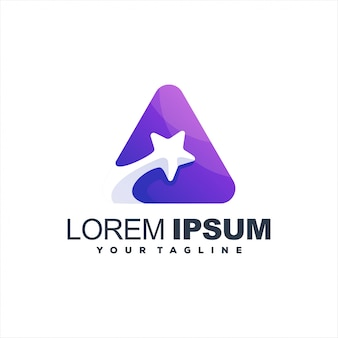 Niesamowite logo z gradientem gwiazdy