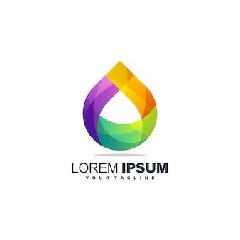 Niesamowite logo z kroplami wody