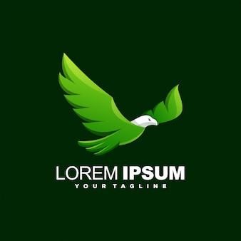 Niesamowite logo zwierząt ptak