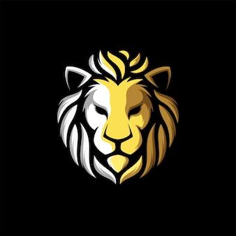 Niesamowite lwa głowa logo ilustracja wektorowa maskotka