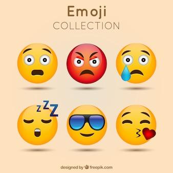 Niesamowite paczka emoticon