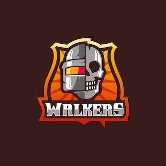 Niesamowite projektowanie logo esports skull gaming