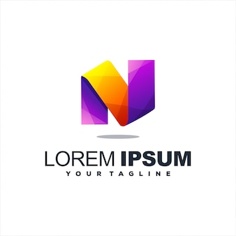 Niesamowite projektowanie logo litera n