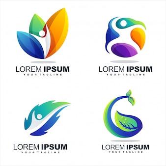 Niesamowite projektowanie logo streszczenie gradientu