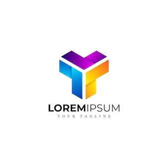 Niesamowite streszczenie kolorowe logo premium