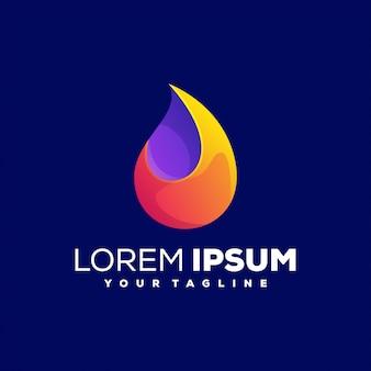 Niesamowite streszczenie logo gradientu