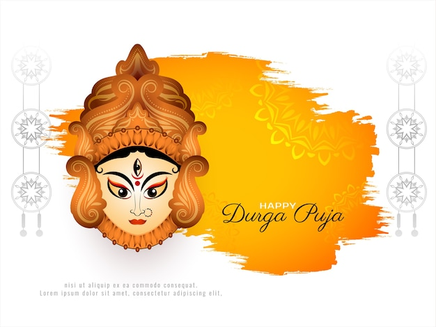 Niesamowite stylowe szczęśliwe tło festiwalu durga puja