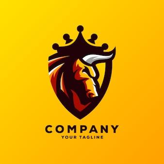 Niesamowite wektor logo byka
