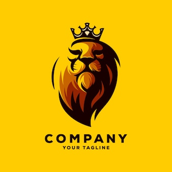 Niesamowite wektor logo król lew