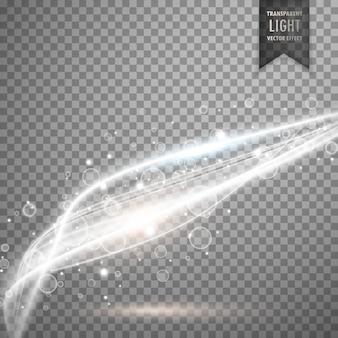 Niesamowite wektor przejrzyste światło białe tło