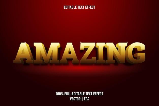 Niesamowity, edytowalny, luksusowy styl efektów tekstowych