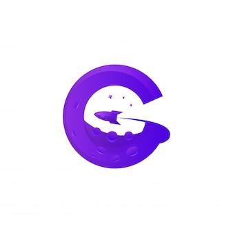 Niesamowity kolorowy szablon logo premium g planet