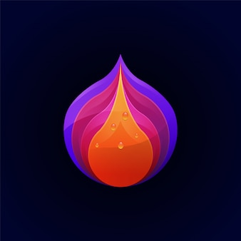 Niesamowity kolorowy szablon logo premium owoców
