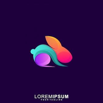 Niesamowity królik premium wektor logo