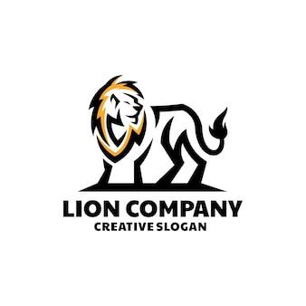 Niesamowity lew nowoczesny szablon logo