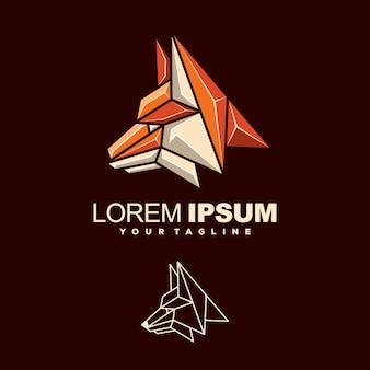 Niesamowity lis logo wektor