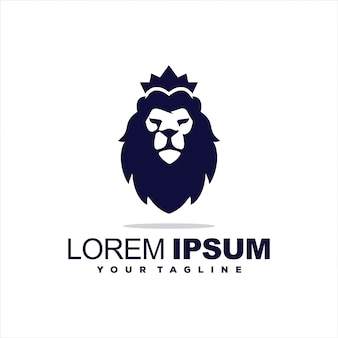 Niesamowity projekt logo króla lwa