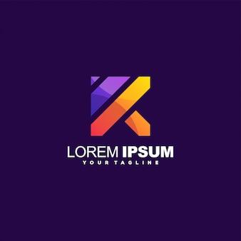 Niesamowity projekt logo litery k.