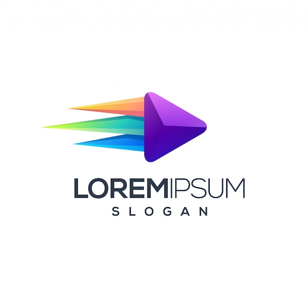 Niesamowity projekt logo multimedialnego