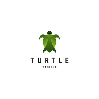 Niesamowity projekt logo premium żółwia