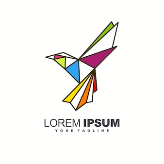 Niesamowity projekt logo ptaka
