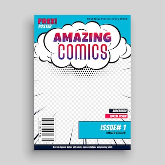 Niesamowity projekt szablonu strony tytułowej komiksu