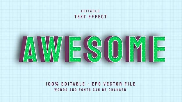 Niesamowity szablon edytowalnego efektu tekstowego w stylu pop 3d