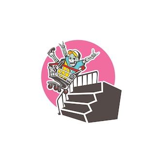 Niesamowity szablon logo maskotki małpy - szablon logo zwierząt logo