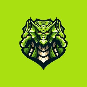 Niesamowity szablon sportu logo smoka