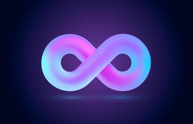 Nieskończoność kolor ikony znak element geometryczny wektor