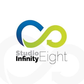 Nieskończoność kolor osiem logo