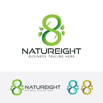 Nieskończoność natura osiem wektor logo szablon