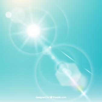 Nieskończoność obiektywu racy symbol z niebem