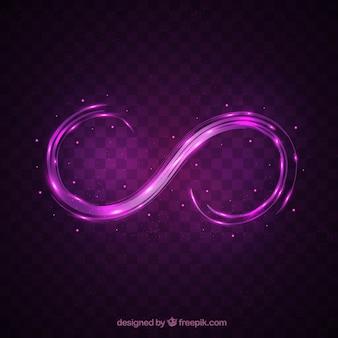 Nieskończony symbol z błyszczącym efektem