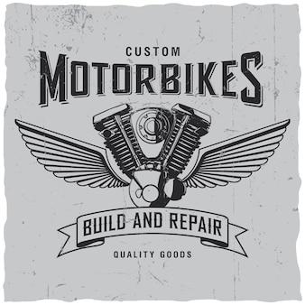 Niestandardowa Etykieta Motocykle Darmowych Wektorów