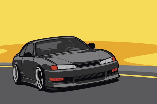 Niestandardowa ilustracja samochodu