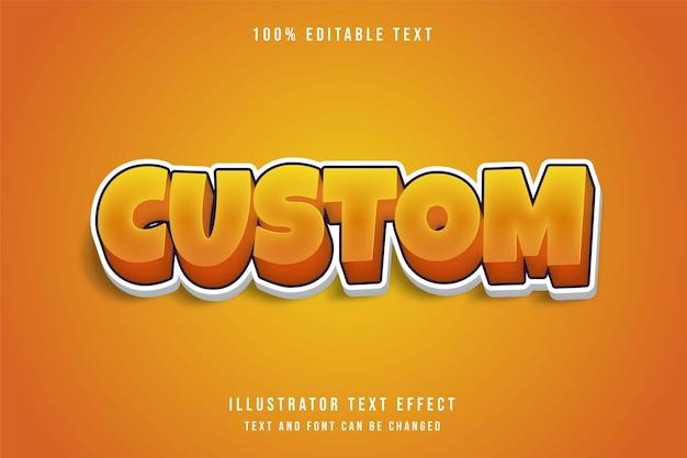 Niestandardowy, 3d edytowalny efekt tekstowy żółty efekt gradacji pomarańczowy styl gry