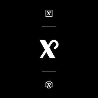 Niestandardowy list mark x white style monogram