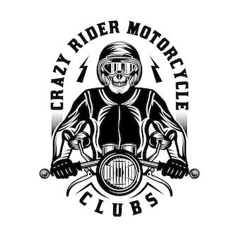 Niestandardowy odznaka vintage motocykl
