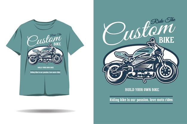 Niestandardowy projekt koszulki z sylwetką roweru