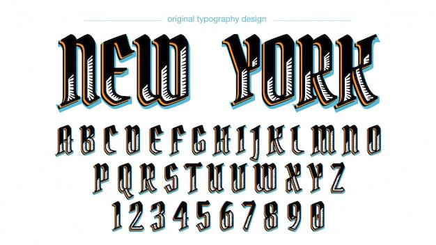 Niestandardowy projekt typografii vintage
