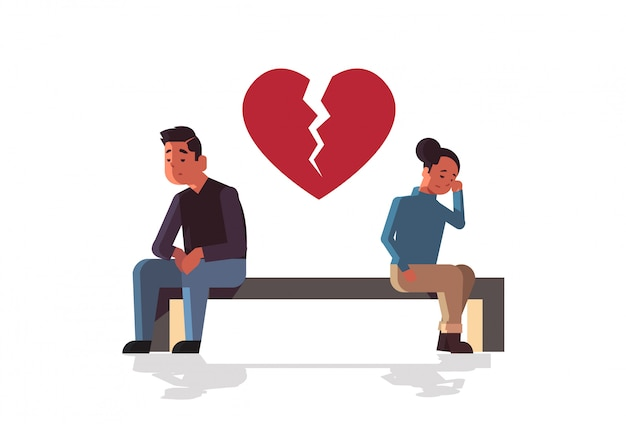 Nieszczęśliwa smutna para w depresji mająca problem w związku