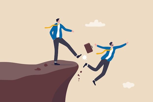 Nieuczciwość biznesowa, zdrada lub zazdrość kolegi