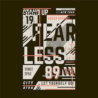 Nieustraszony napis graficzny typografia