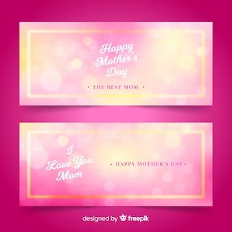 Niewyraźne banery na dzień matki