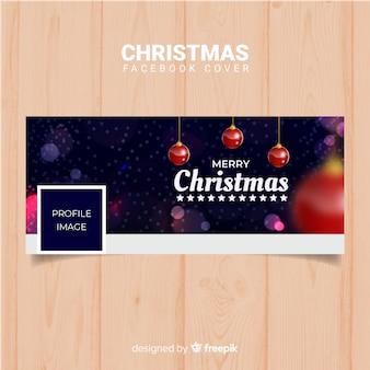 Niewyraźne kulki pokrywa christmas facebook